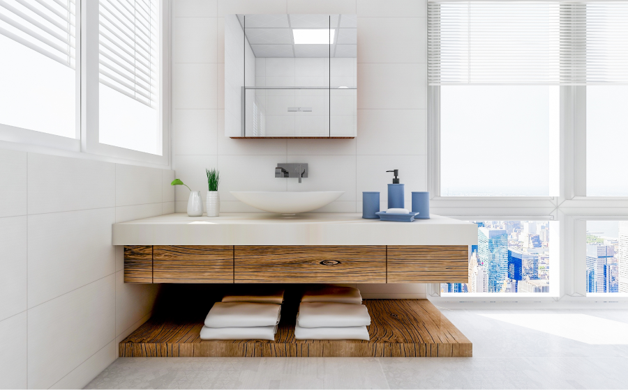 Replace a bathroom vanity and sink