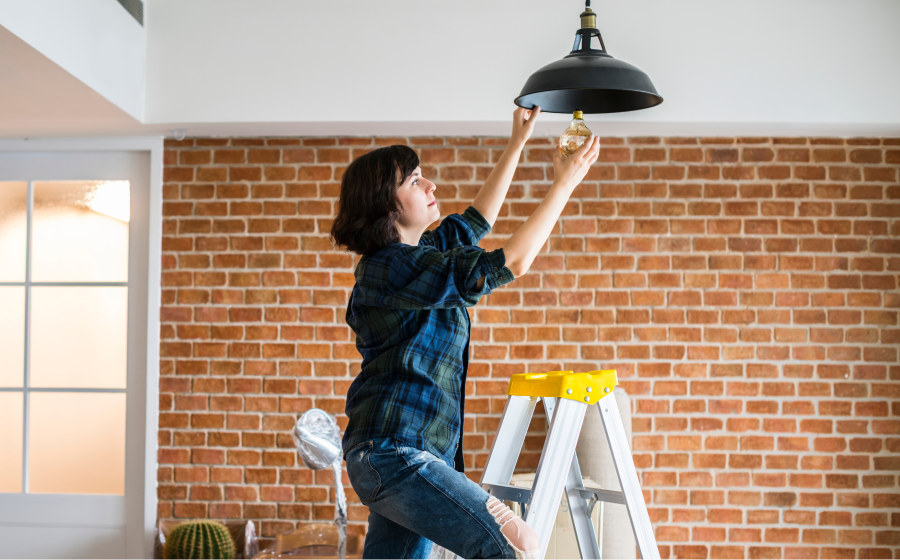 Replace a light fixture
