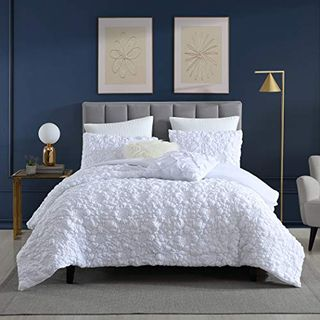 Stitched Rosette Floral 2-Piece Comforter Set with Matching Sham