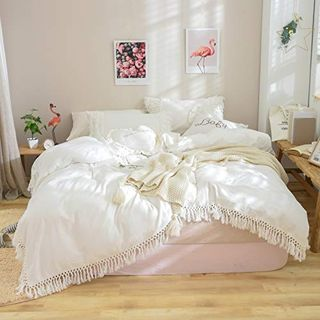 Tassel Bohemian Duvet Cover 100% Washed Cotton