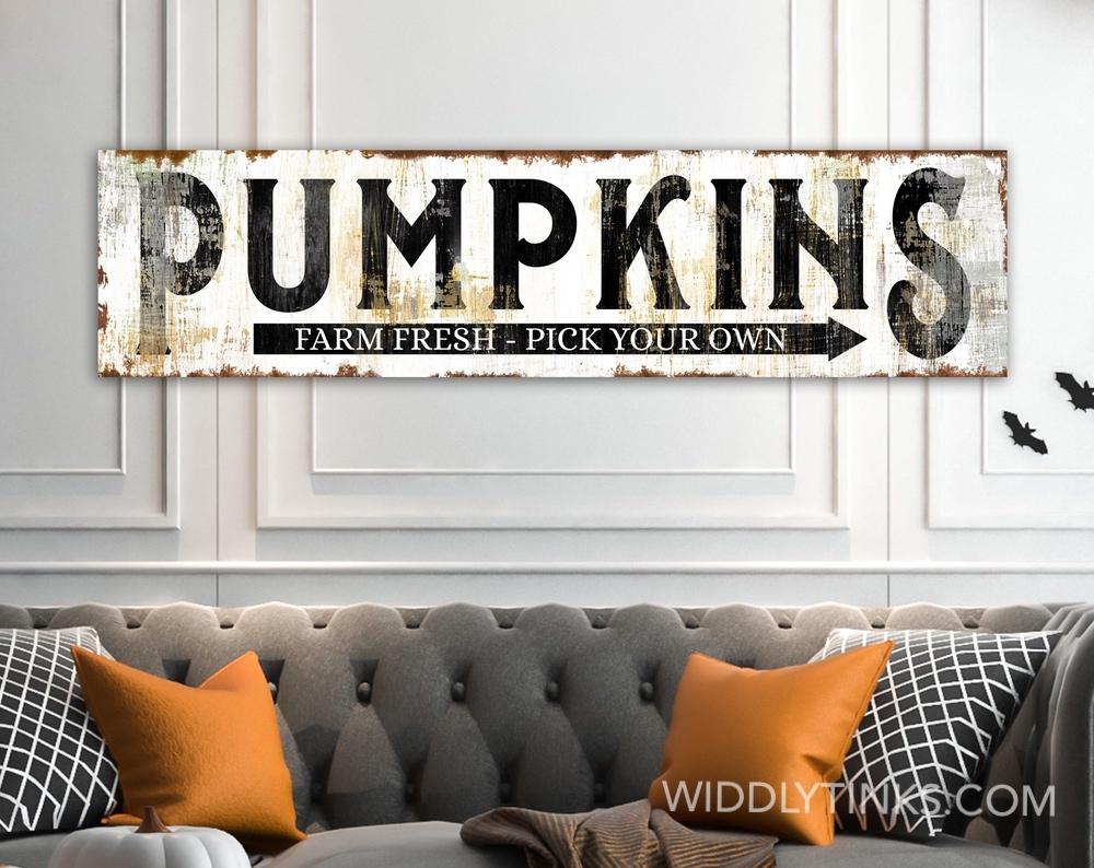 Rustic Pumpkin Fall Thanksgiving Decor Black